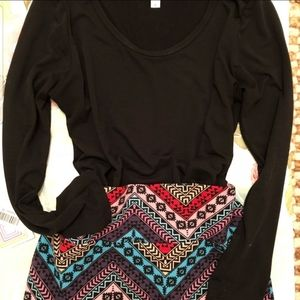 Lularoe Cassie Aztec Pencil Skirt
